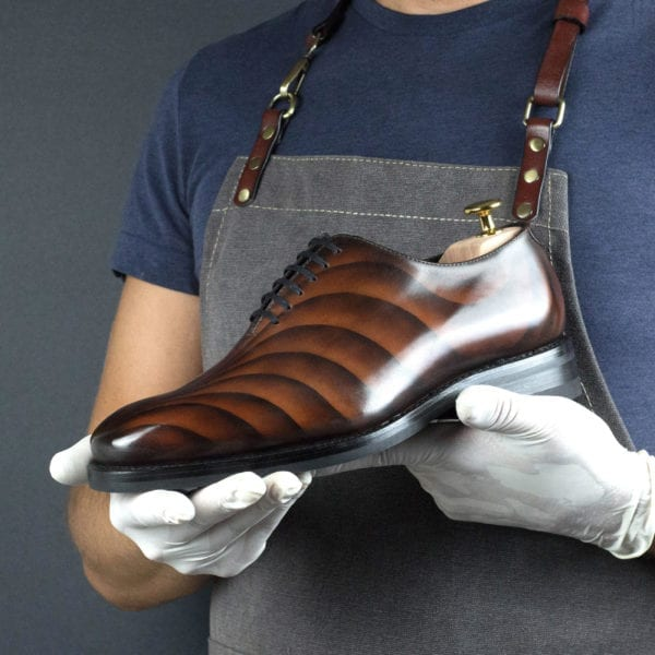 limited edition brown patina leather Wholecut Shoe MOJAVE