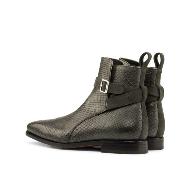 Python Jodhpur Boots with suede strap SIMMONS