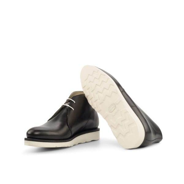 white chunky rubber sole Chukka Boots RAMSDEN