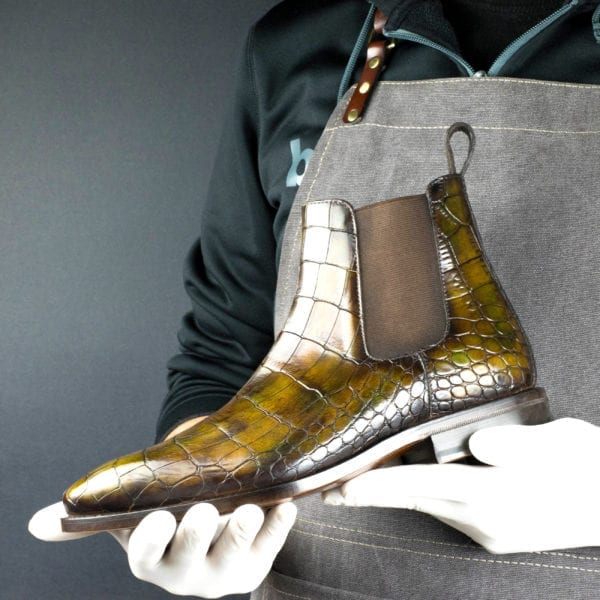 Special Edition croco leather Chelsea Boot GOLDIE