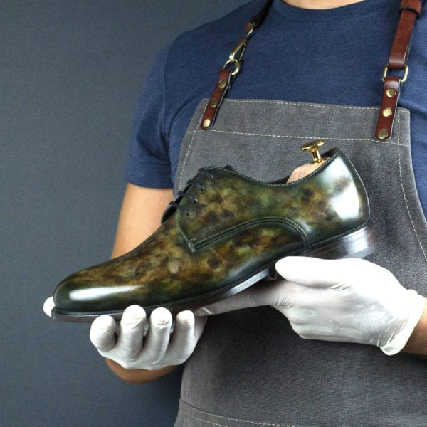 Special limited Edition autumnal patina leather Derby Shoe FALL