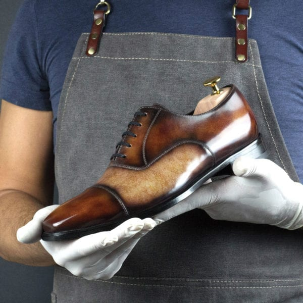 Special Edition Oxford Shoes with cream patina MANUKA