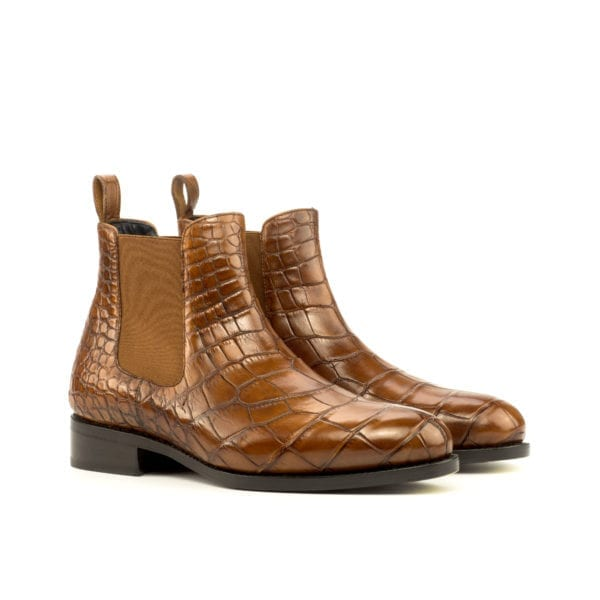 tan Alligator Chelsea Boots for men WETLANDS