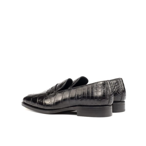 black Alligator penny Loafers PIERS