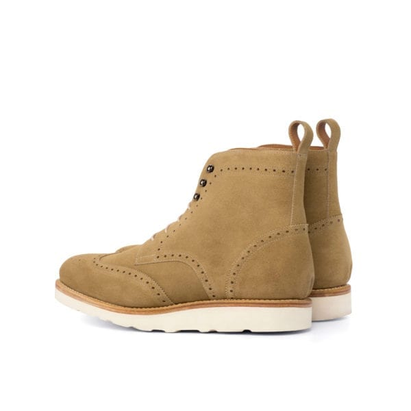 camel suede Brogue Boots for men ARMOUR
