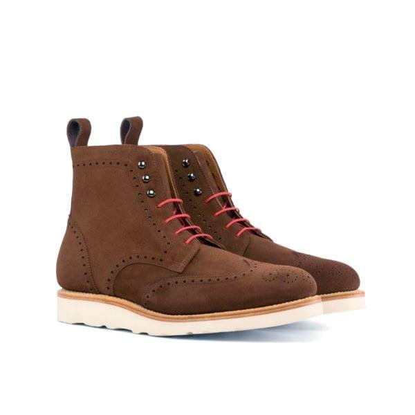 casual brown suede Brogue Boots SHIELD