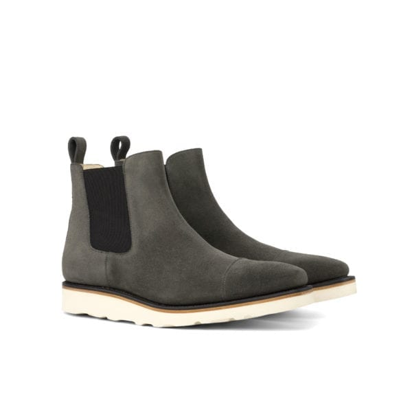 grey suede Chelsea Boots on a comfortable rubber sole DERRICK