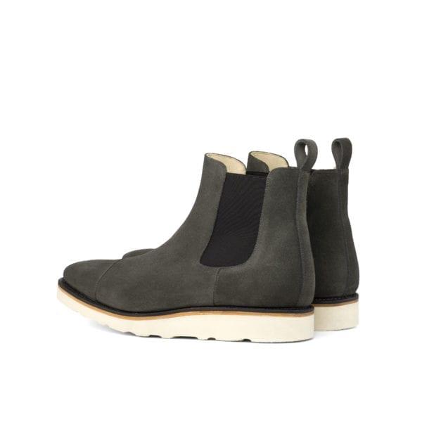 comfy grey suede Chelsea Boots DERRICK