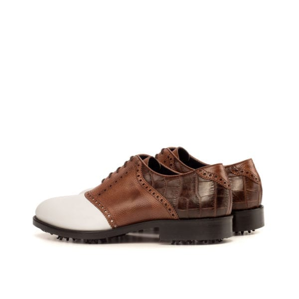Saddle Golf Shoes with croco leather detail WOOSNAM