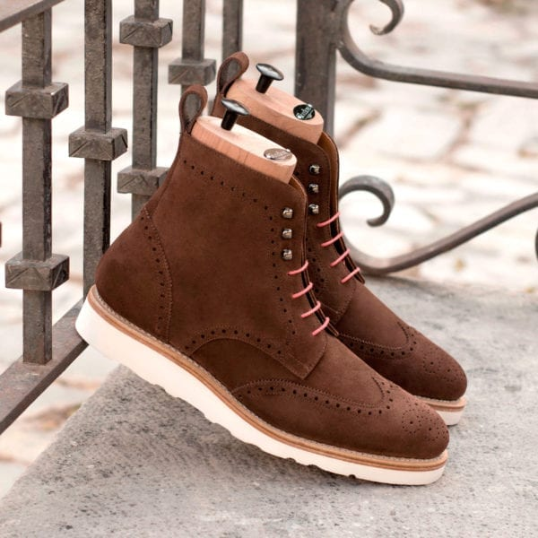 order custom made casual Brogue Boots for men SHIELD