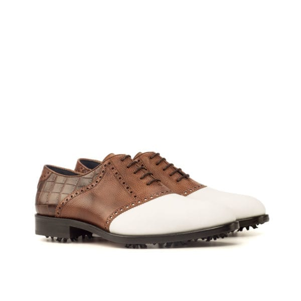 stylish lace-up Saddle Golf Shoes for men WOOSNAM
